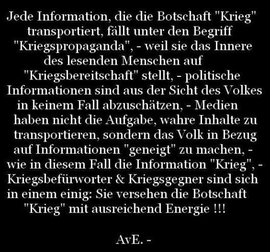 Krieg. -